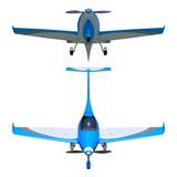 Light general aviation aircraft 3d model