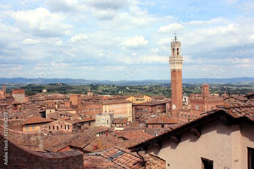 Fotobehang Toscane Roofs of Siena