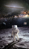 the first man on the moon. Cosmonaut. The photo taken from NASA - 217608233