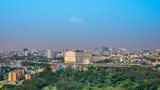 Panoramic view of Chennai in a summer day, India