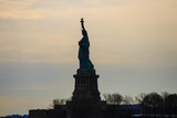 The iconic Statue of Liberty, Liberty Island, New York City, USA