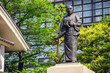 Statue of Oishi Kuranosuke, the leader of 47  ronin, at Sengakuji Temple in Tokyo, Japan