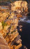 Sunrise reflection on Cliff face