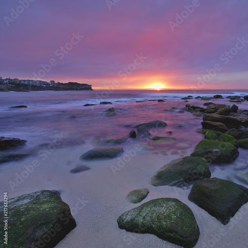 Canvas Zee zonsondergang Sunrise at the Beach
