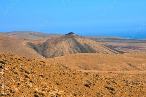 Aluminium Blauw Dry Desert Landscape