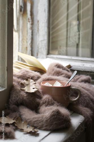 Cozy autumn still life - 217639081