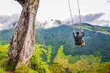 Swing at the End of the World in Baños Ecuador