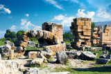 Hierapolis City Ruin in Turkey in Pamukkale.