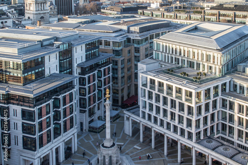 Foto Murales Aerial View of Paternoster Square in London as viewed from St Paul's Cathedral