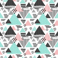 Hipster geometric hand drawn triangle seamless pattern
