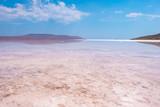 Pink salt Lake Koyashskoe, Crimea. - 217663826