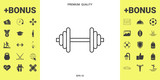 Barbell line icon