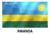 Rwanda flags design vector