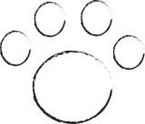 pet paw icon line illustration