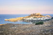 Rhodes, Greece - Sunset View of the beautiful Village Lindos