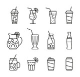 set of beverages icons - 217688088