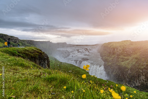Gullfoss waterfall in Iceland - 217698410
