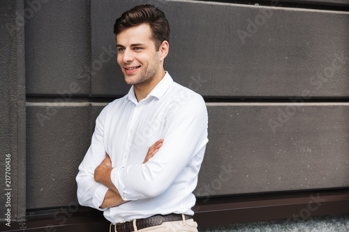 Sticker Confident young male manager formal dressed