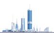 complex of futuristic buildings - 217702632