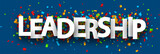 Blue leadership banner with colorful confetti. - 217706830