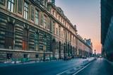 Paris rues coucher de soleil