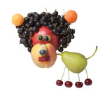 Funny lion created from various fruits - 217714095