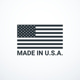 Made in USA badge with USA flag elements. Vector illustration - 217718444