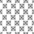 hand drawn monohrome seamless vector pattern