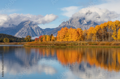 mata magnetyczna Scenic Reflection Landscape of the Tetons in Autumn