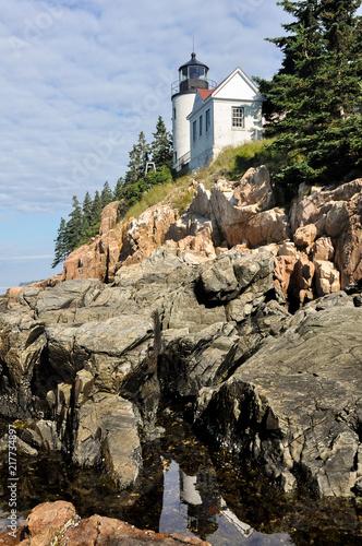 Aluminium Vuurtoren Bass Harbor Lighthouse, Acadia National Park, USA