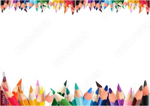 Kolorowi ołówki na Białym tle - Szczegółowa ilustracja jako projektów elementy dla Twój projekta, wektor