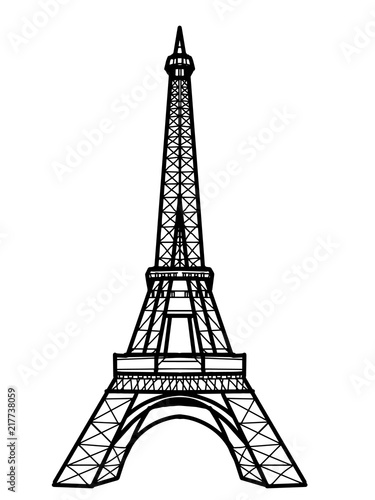 Wall mural Eiffel Tower illustration drawing
