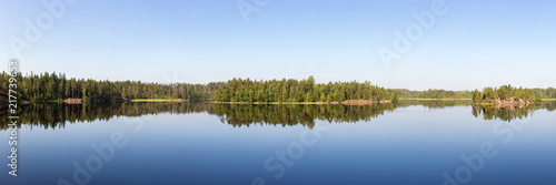 panorama of a forest lake - 217739653