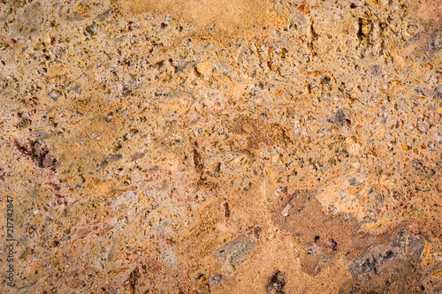 Stone wall texture background. Top view