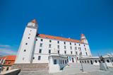 Courtyard of Medieval Castle in Bratislava, Slovakia