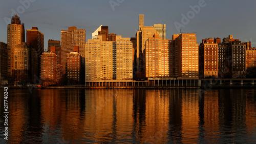 Fototapeta east river coastline NYC