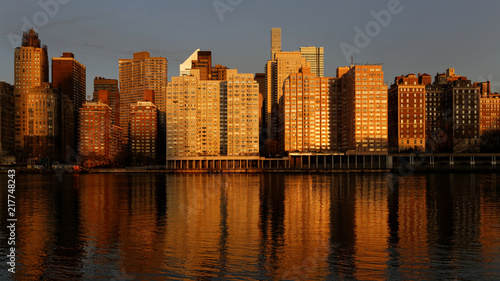 Naklejka east river coastline NYC