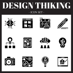 The 3rd design thinking icon set. The icon are solid. Illustration © wsookruay