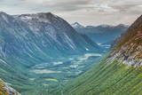 View of mountains from Trollstigen viewpoint, Norway