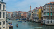 Vibrant colourful buildings along the waterfront in venice