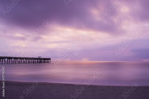 Canvas Zee zonsondergang Purple Haze Sunrise