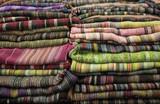 India colorful textile.
