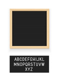 Black letter board. Letterboard for note. Plate message. Office - 217771668