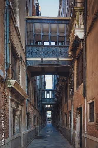 Street of Venice, Italy with Old Architecture