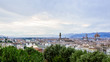 Quadro Panoramic View of Florence, Italy at Dusk