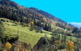 Autumn landscape of Carpathian