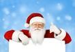 Leinwanddruck Bild - Santa.