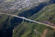 Vue aérienne de la Route des Tamarins à La Réunion