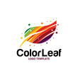 colorful leaf logo - 217798046