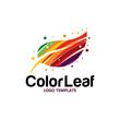 colorful leaf logo - 217798046